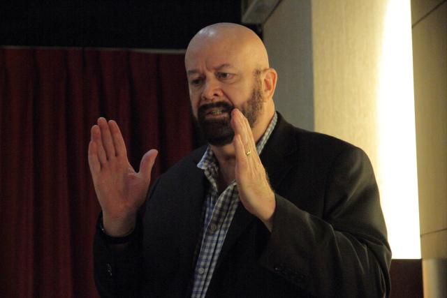 Chord營運總監 John Franks親自上陣為大家解說M Scaler與Hugo TT 2。